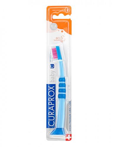 Brosse à dents Baby bleu-rose
