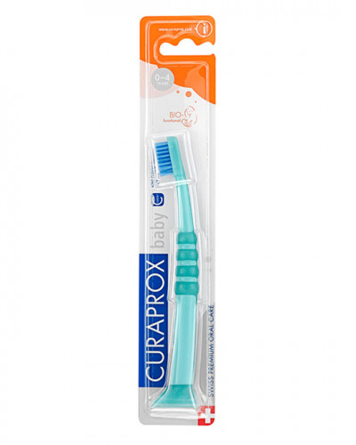 Brosse à dents Baby vert-bleu